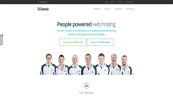 Conetix - one of the best Australian web hosting companies