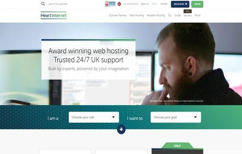 Heart Internet - UK web hosting company