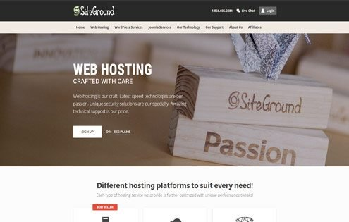 Siteground - a top UK web hosting company