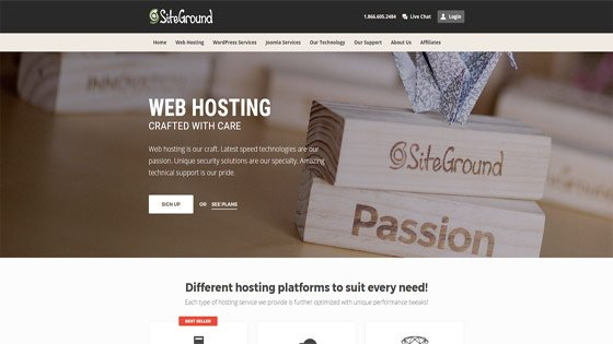 Siteground - one of the top UK web hosting companies
