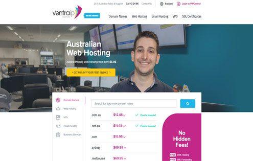 Ventra IP web hosting Australia