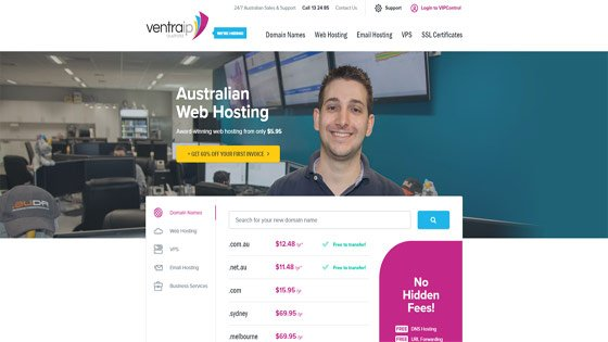 VentraIP web hosting Australia