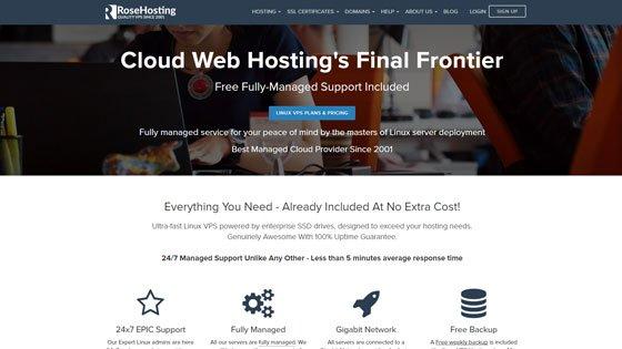 RoseHosting cloud web hosting company